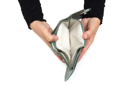 salarios: hay un concepto comercial con libre Mujer billetera vac�a
