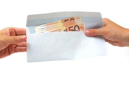 venality: corruption concept with envelope,money Stock Photo