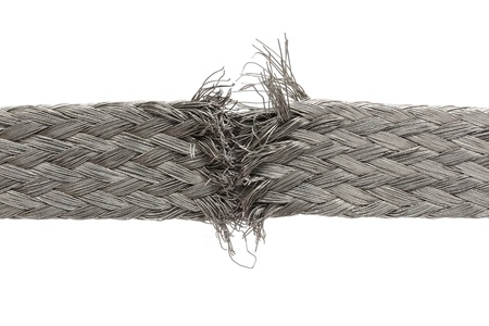 frayed: torn wire isolated