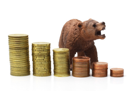 bear market on stock exchange photo