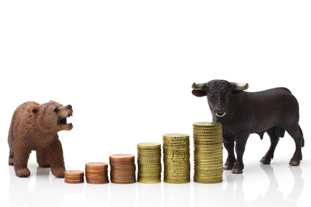 bull market: Bull and bear market Stock Photo