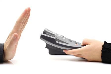 repondre au telephone: administrateur refusant r�ponse appel t�l�phonique