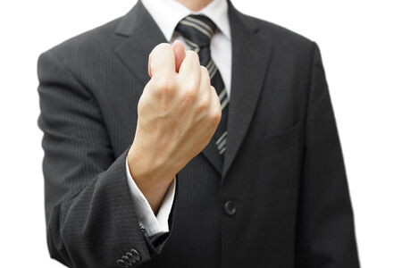 businessman hand showing a fig sign photo