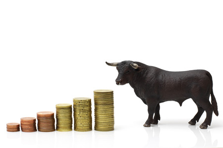 bear market: bull market Stock Photo