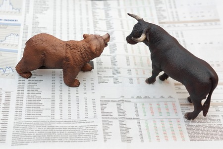 stock image: concept of stock market