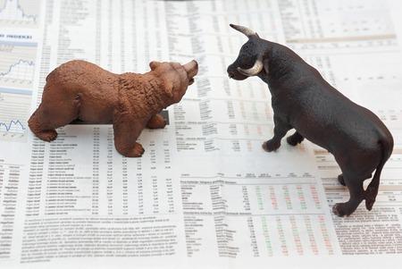 toros: concepto de mercado de valores Foto de archivo