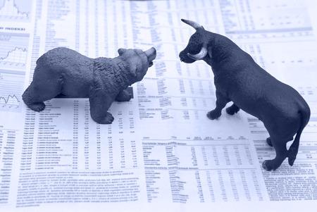 toro: concepto de mercado de valores Foto de archivo