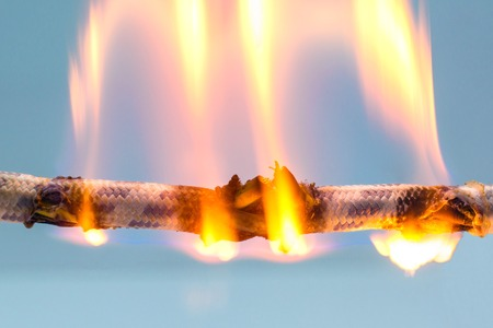 power cable: burning cable