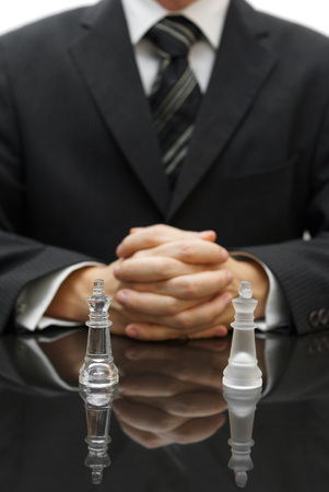 business strategy with chess figure photo