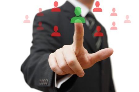 적합: 협력에 대한 올바른 사람을 선택 스톡 콘텐츠