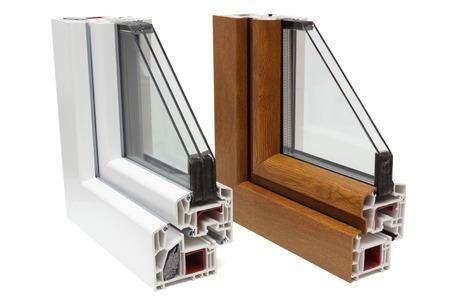 double glazing: plastic windows profiles