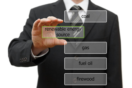 ecology concept with choosing renewable enegry source photo