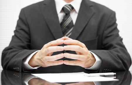 businessman talking on business meeting photo