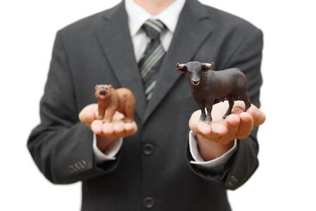 concept of bull stock market  positive trend on stock exchange photo