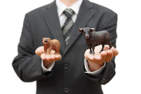 bear market: concept of bull stock market  positive trend on stock exchange