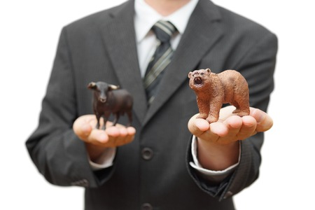 market crash: concept of bear stock market   recession time Stock Photo