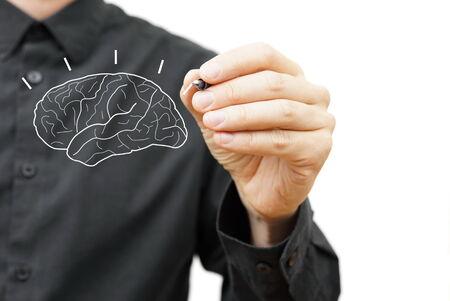 brain research: Creative Brain Idea concept