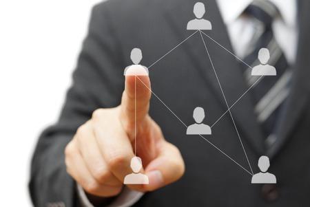 Business-Networking und Bekannten Lizenzfreie Bilder