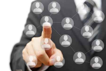business connections and network marketing photo