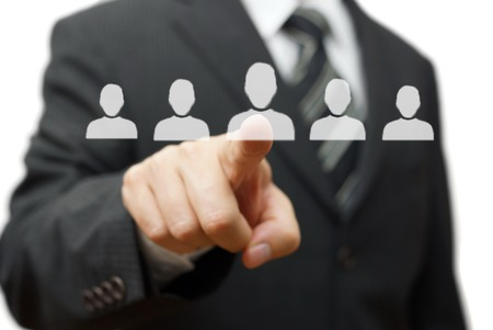 Human resources,partnership,choosing partner Stock Photo