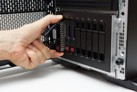 replacements: inserting disk into data server