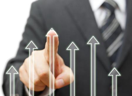 incremento: El éxito del negocio y el crecimiento concepto Foto de archivo