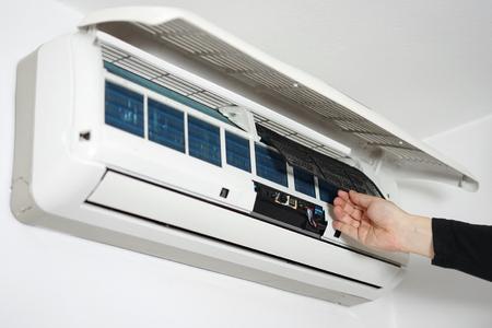 reinigen en onderhouden huis airconditioning