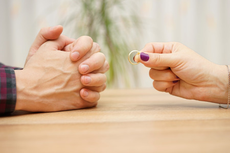 woman want to break up relationship with man and give him ring back, man refuses to take ring