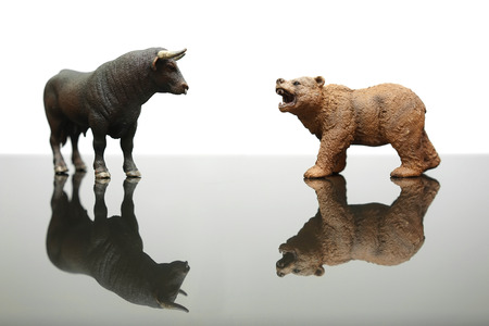 bear market: concept of positive and negative trends in financial markets