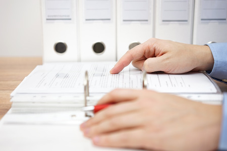 attorney is examining business documentation Standard-Bild