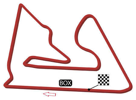 grand prix: bahrain circuit vector