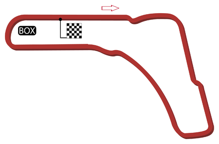grand prix: italy circuits vector Illustration