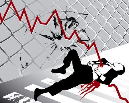 vermoord: Over de economische recessie en crise gedood door de banken Stockfoto