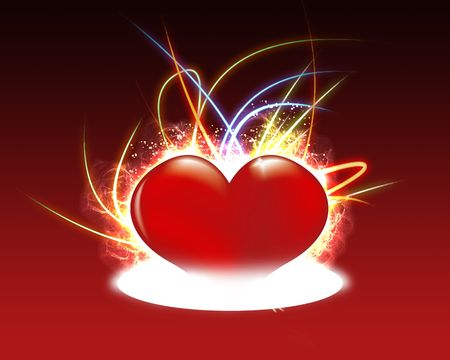 wonderful flurry heart on warm background. Stock Photo - 4314912