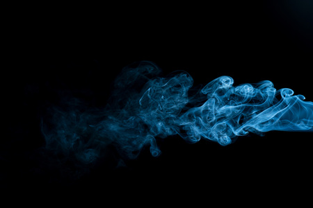 Smoke isolated on black background