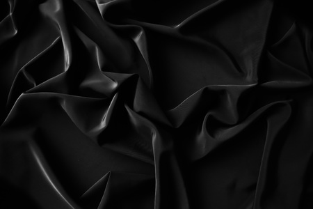 Black fabric abstract background Stock Photo