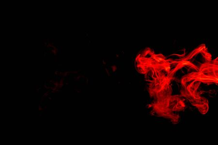 Red smoke abstract on black background
