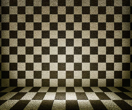 Sepia Chessboard Room Background photo