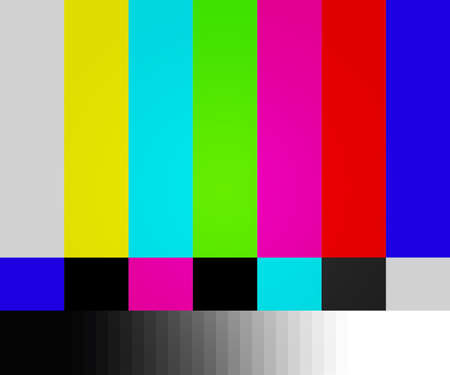 test pattern: TV Test Screen Background Stock Photo