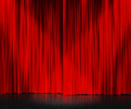 Rode Gordijn Stage Achtergrond Stockfoto
