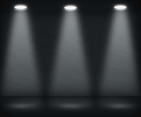 Dark Spotlight Room Stock Photo - 13596893