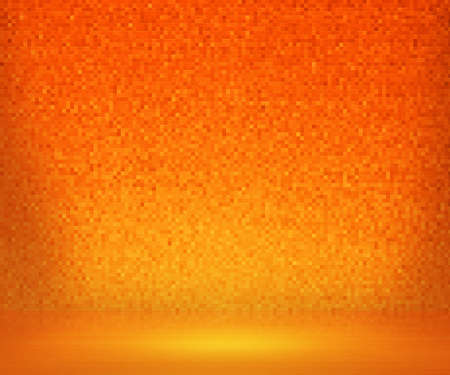 Orange Mosaic Bath Background photo