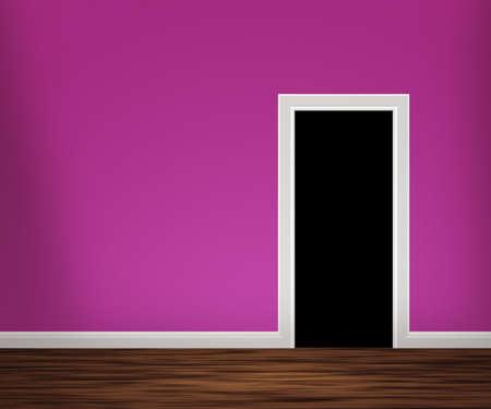 Door in Violet kamer