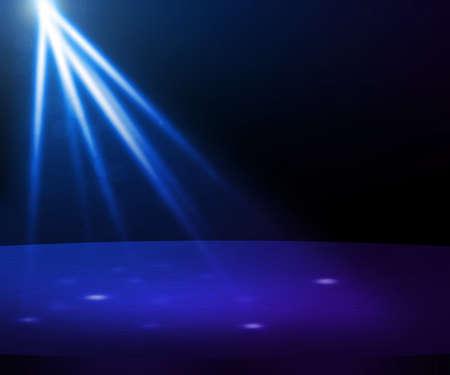Blue Party Spotlight Stage