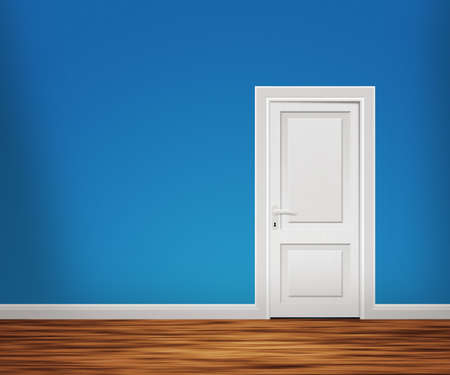Door in the Blue Wall photo