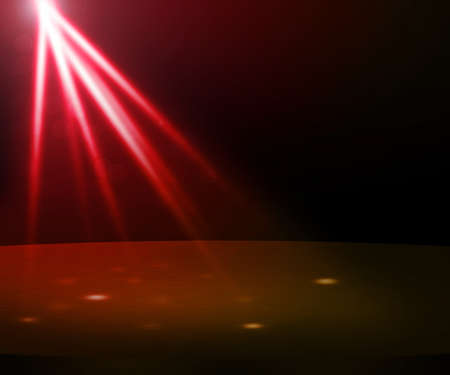 beam of light: Red Party Spotlight Stage Stock Photo