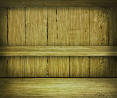 Walnut Wooden Shelf Background photo