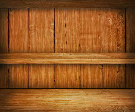 Oak Wooden Shelf Background photo