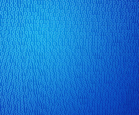 Blue Binary Wall Background photo