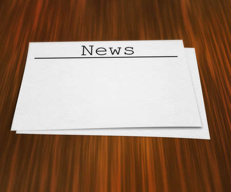 News Page On Table photo